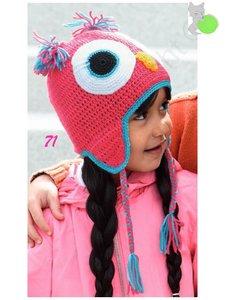 Kid's Cap Owl 71 Roze