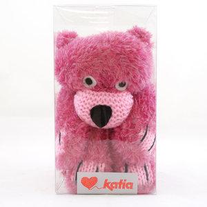 Teddy Bear Scarf 53 Fuchsia