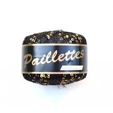 Paillettes 05 zwart